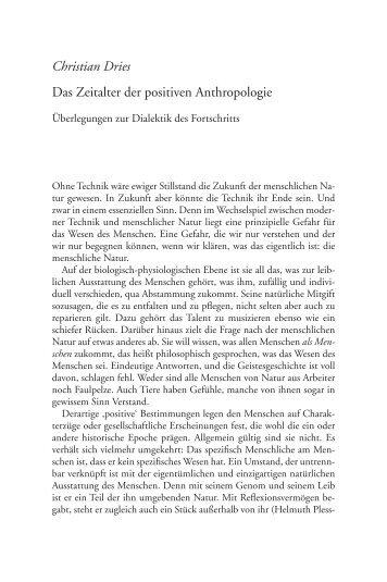 Christian Dries Das Zeitalter der positiven ... - Scheidewege