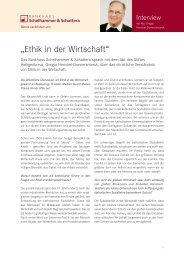 """""""Ethik in der Wirtschaft"""" - Bankhaus Schelhammer & Schattera ..."""