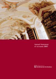Annual Statement of Accounts 2007 - Bankhaus Schelhammer ...