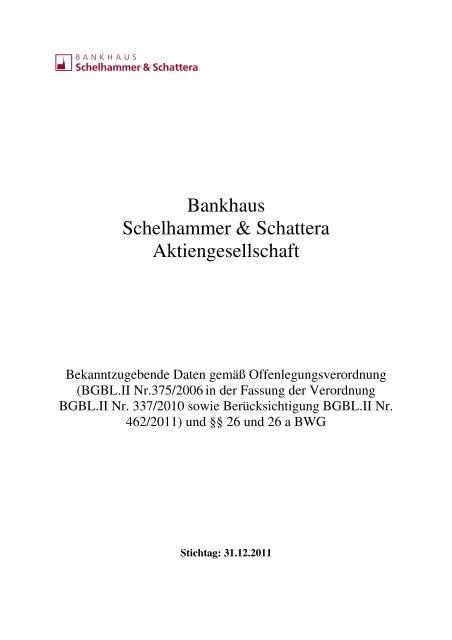 Bankhaus Schelhammer & Schattera Aktiengesellschaft