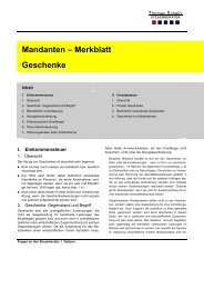 Mandanten – Merkblatt Geschenke - Steuerberater Schelly Hamburg