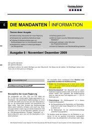 6 DIE MANDANTEN IINFORMATION - Steuerberater Schelly Hamburg