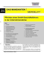 Pflichten eines GmbH - Steuerberater Schelly Hamburg