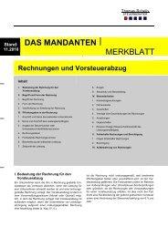 Rechnungen und Vorsteuer - Steuerberater Schelly Hamburg