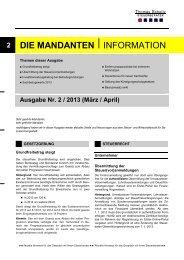 Ausgabe März/ April 2013 - Steuerberater Schelly Hamburg