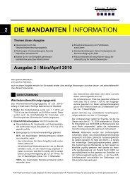 Ausgabe März/ April 2010 - Steuerberater Schelly Hamburg