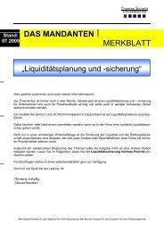 DAS MANDANTEN I MERKBLATT - Steuerberater Schelly Hamburg