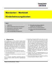 Mandanten - Merkblatt Kinderbetreuungskosten - Steuerberater ...
