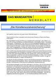 das mandanten imerkblatt - Steuerberater Schelly Hamburg