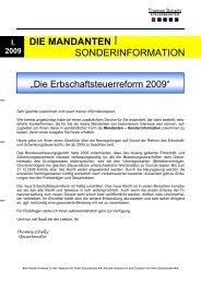 Die Erbschaftsteuerreform 2009 - Steuerberater Schelly Hamburg