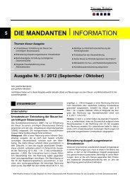 Ausgabe September/ Oktober 2012 - Steuerberater Schelly Hamburg
