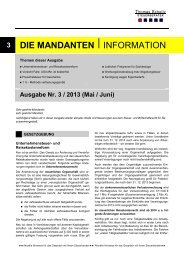 Ausgabe Mai/ Juni 2013 - Steuerberater Schelly Hamburg