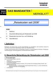Reisekosten seit 2008 - Steuerberater Schelly Hamburg