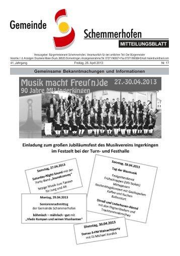 Mitteilungsblatt Nr 15 Gemeinde Schemmerhofen