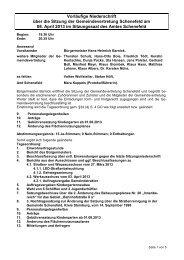 Vorl. Protokoll der GV vom 08. April 2013 - Gemeinde Schenefeld