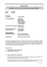 Protokoll Planungsausschuss vom 14. Januar 2013