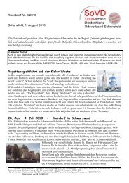 Rundbrief Nr. 8/2010 Schenefeld, 1. August 2010 Der Ortsverband ...