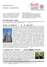 Rundbrief Nr. 9/2011 Schenefeld, 1. September 2011 Emil Nolde ...