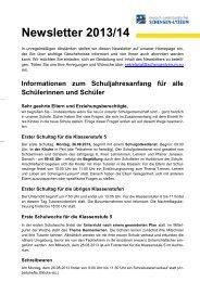 finden Sie den Newsletter 8/2013 als PDF. - Deutsch ...