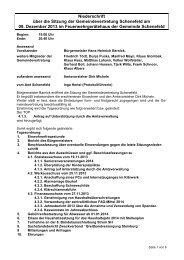 Protokoll der GV vom 09. Dezember 2013 - Gemeinde Schenefeld
