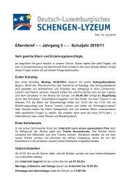 Elternbrief – – Jahrgang 5 – – Schuljahr 2010/11 - Deutsch ...
