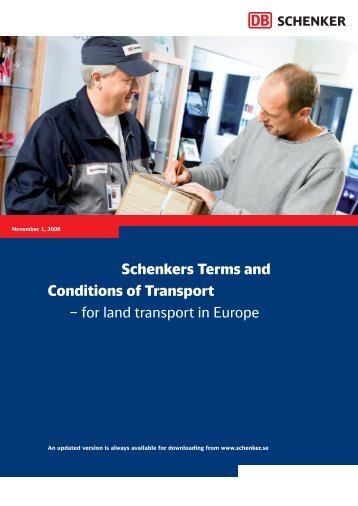 General terms and conditions - Schenker