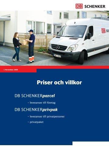 Priser och villkor - Schenker