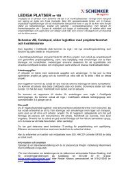Schenker AB producerar och marknadsför transport- och ...