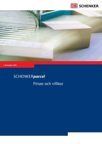 Art 1011 PARCEL Priser&Villkor;.indd - Schenker