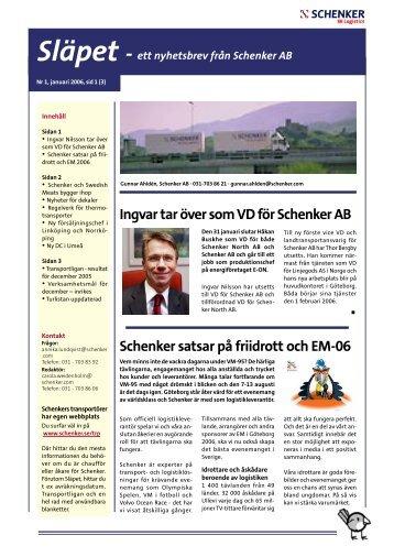 Ingvar tar över som VD för Schenker AB Schenker satsar på friidrott ...
