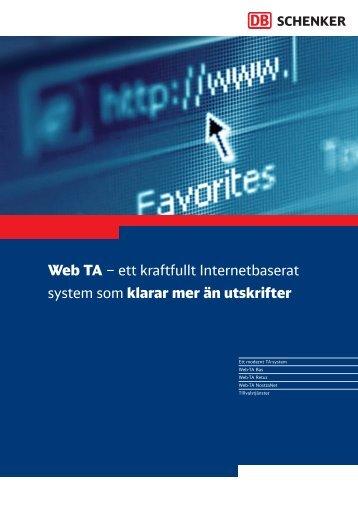 Broschyr Web-TA - Schenker