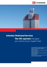 Schenker Dedicated Services The 4PL operator that gives you ...