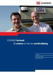 Bli ombud och öka din merförsäljning - Schenker