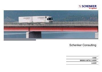 Case Minska antal lager - Schenker