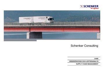Case Orderprocess och ledtidsanalys - Schenker