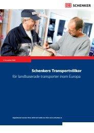 Schenkers Transportvillkor