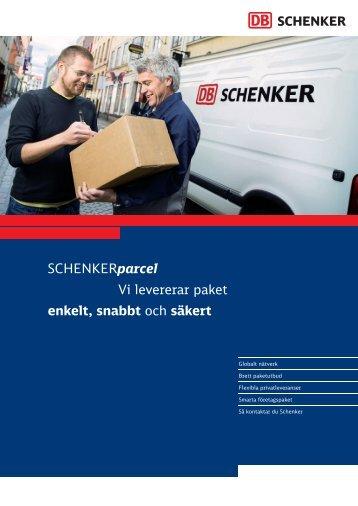 Broschyr SCHENKERparcel 2007 06 01