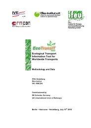 Ecological Transport Information Tool for Worldwide ... - Schenker
