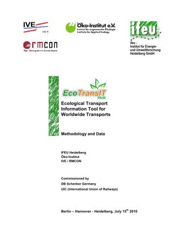 Ecological Transport Information Tool for Worldwide ... - Schenker