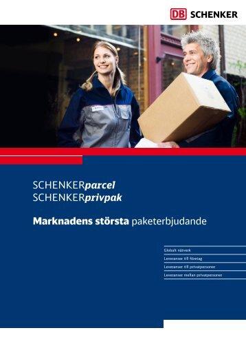SCHENKERparcel SCHENKERprivpak Marknadens största ...