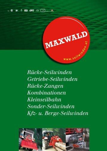 Rücke-Seilwinden - MAXWALD Seilwinden