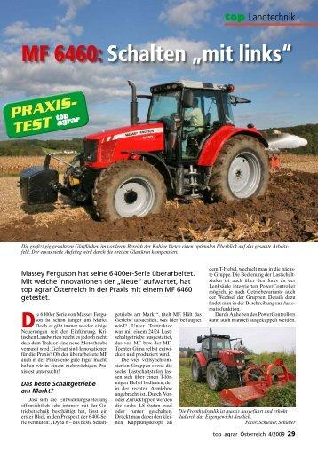 Traktortest Massey Ferguson 6460 top agrar Österreich 4/2009 (PDF ...