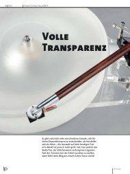 Volle Transparenz - Scheu Analog