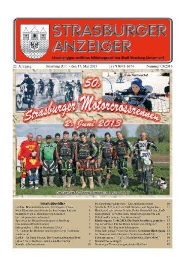 22. Jahrgang Strasburg (Um.), den 17. Mai 2013 ... - Schibri-Verlag