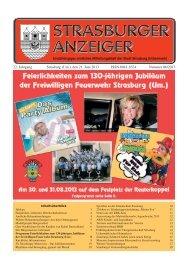 22. Jahrgang Strasburg (Um.), den 21. Juni 2013 ... - Schibri-Verlag