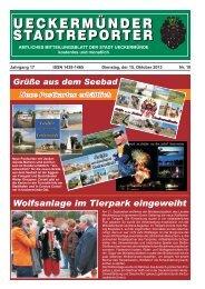 STADTREPORTER UECKERMÜNDER - Schibri-Verlag
