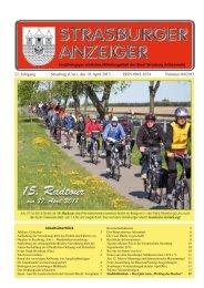 22. Jahrgang Strasburg (Um.), den 19. April 2013 ... - Schibri-Verlag
