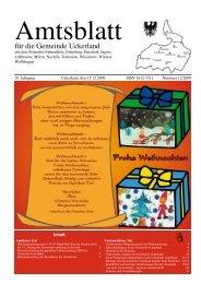 für die Gemeinde Uckerland - Medienecho: - Schibri-Verlag