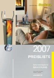 Preise ab Werk ohne Mwst. Gültig ab 1. April 2007