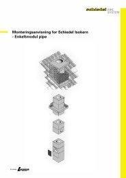 Monteringsanvisning for Schiedel Isokern - Enkeltmodul pipe